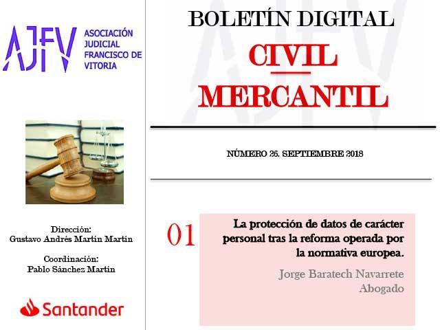 Boletín Civil septiembre de 2018